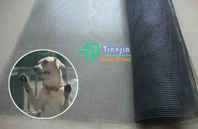 400g Black PVC and Polyester Mesh Pet Screening