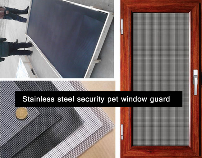 Stainless Steel and Mild Steel Security Pet Window Screening Guard